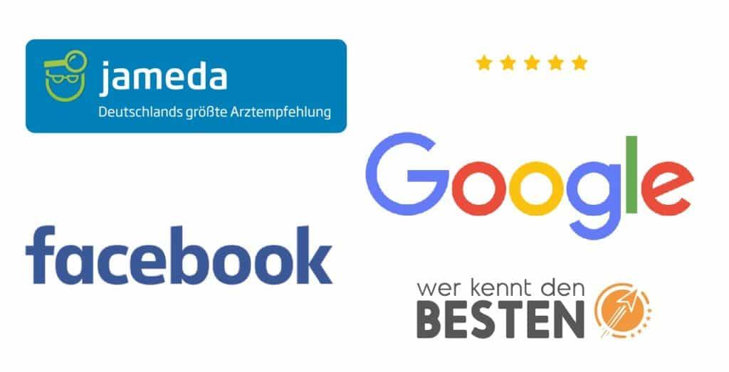 Bewertungen auf Google Facebook und Bewertungsportalen auf Webseite anzeigen lassen