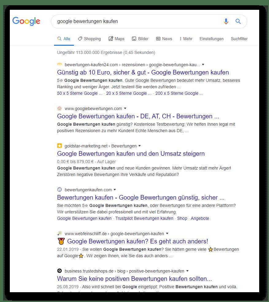 Google-Sterne-niemals-kaufen