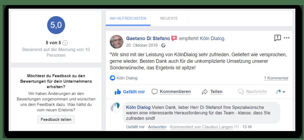 Facebook-Empfehlungen