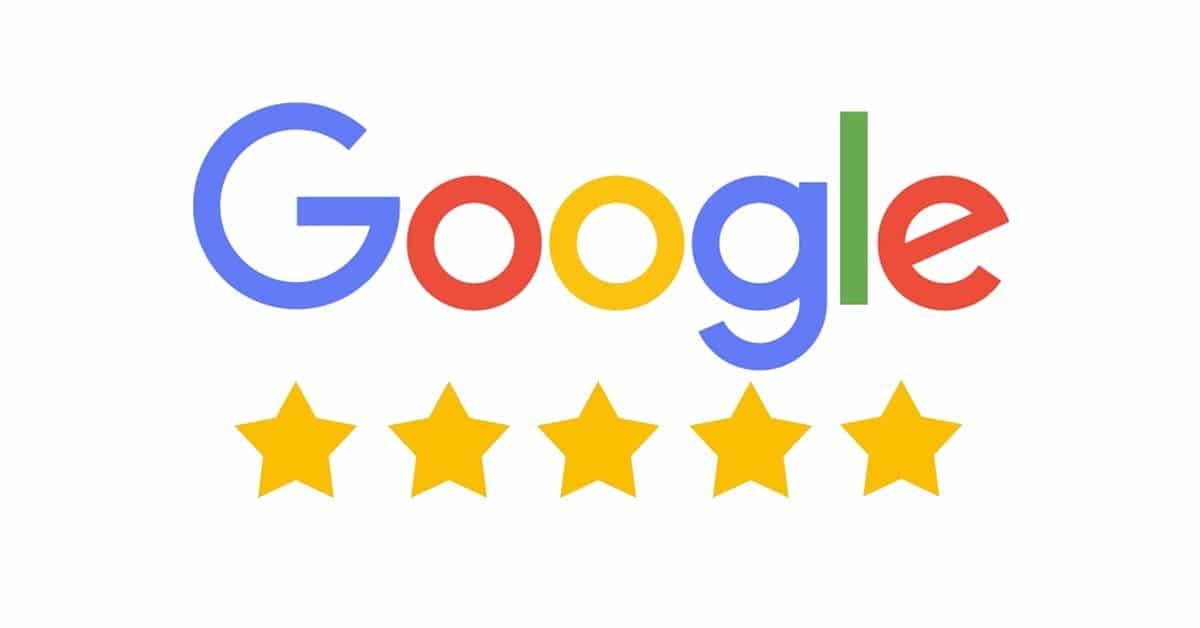 Google Logo + Google-Sterne